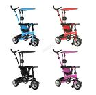 FoxHunter Baby Kids 4in1 Tricycle Bike Ride on Trike Stroller 3 Wheels Canopy