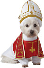 Pet Dog Pope Religious Clothes Clergy Catholic Fancy Dress Costume Outfit  XS-L