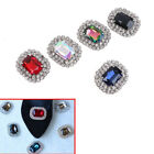 1PC women crystal rhinestone metal shoes clips bridal shoe charms decor T bl