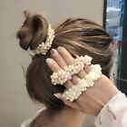 Girls Pearl Beads Scrunchies Rubber Bands Ponytail Holders Elastic Hair Band