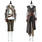 Star Wars 8 Episode VIII The Last Jedi Rey Cosplay Costume 2 Versions Outfit $108.1 AUD on eBay