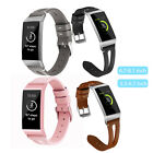 For Fitbit Charge 3 Replacement Genuine Leather Strap Sport Watch Wrist Band US