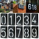 Solar Power LED Number Sign Light House Door Address Digits Plate Plaque