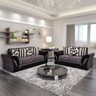 Large 2 Seater, 3 Seater Sofa Armchair Grey Black or Beige Brown...