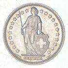 Roughly Size of Quarter - 1960 Switzerland 1 Franc - World Silver Coin *910