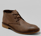 *MEN GRANGER CASUAL SHOE LACE UP FASHION FAUX LEATHER BROWN BOOT Goodfellow & Co