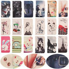 Lovely Flip PU Case Leather Cover Skin Wallet Card Slot Bumper For Mobile Phones