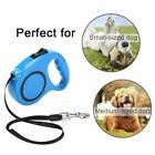 Retractable Dog Leash One Handed Lock Automatic Extending Pet Walking Leads UK