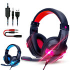 3.5mm Wired Gaming Headset Stereo Surround Headphone Mic For PS5 Laptop Xbox one