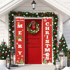 Merry Christmas Banner Wall Hanging Door Curtain Home Party Xmas Decoration Au R