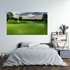 Golf Course Theme Poster Effect Self Adhesive Wall Decal Art Sticker Mural