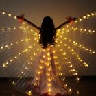 LED Isis Wings Glow Light Up Shawl Cape Cloak Belly Dance Costume Props Wings US