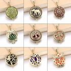 1 Pc Tree Of Life Bronze Aroma Box Diffuser Necklace Magnetic Aromatherapy Essen