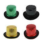 Felt Sequins Steampunk Top Hat Unisex Party Jazz Fedora Magician Caps Trilby