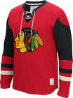 NHL Chicago Blackhawks Red and Mens CCM Long Sleeve Jersey Crew Neck Sweater