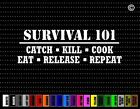 Survival 101 Funny Hunting Car Sticker Window Vinyl Decal Redneck Fishing Bow