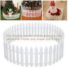 1-50x Picket Fence Garden Fencing Lawn Edging Home Yard Christmas Tree Fence Le