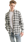 Mens Buffalo Plaid Flannel Casual Shirt Button Front Long Sleeve Checkered shirt