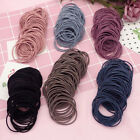 Внешний вид - Lots 100PCS Black Elastic Hair Tie Band Rope Ring Ponytail Holder Gift Womens