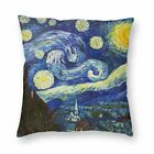 Art Painting Plush Cushion Cover Square Starry Night Van Gogh Throw Pillow Case