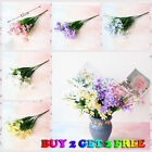 28 Heads US Artificial small Lily Outdoor Fake Flower Plant Home Decoration