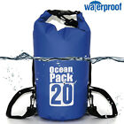 Waterproof 10L-70L Dry Bag Canoe Kayak Boating Camping Swimming Hiking Pouch