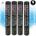 4 Baby Gender Reveal Powder Cannons Air Compressed Party Poppers Smoke Cannon