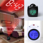 Digital Alarm Clock Multi-function With Voice Talking LED Projection Temperature