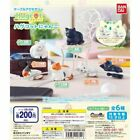 Bandai Cable Accessories Bite Hugcot Cats Kitty Figurine Set