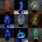 3D Marvel Superhero Acrylic LED Night Light Touch Table Desk Lamp Xmas KIDS Gift