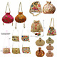 Wholesale deal 10 pc Indian Ethnic Potli Bag Multi pocket Clutch Purse HandBag photo