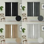 Half Short Window Curtains Eyelet Ring Top Kitchen Bedroom Bathroom Bling Effect