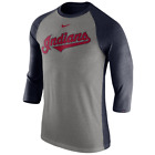 Cleveland Indians Mens Nike Tri-Blend 3/4 Raglan T-Shirt  - Large - NWT on Ebay