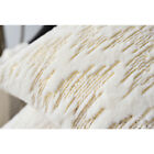 Christmas Pillow Case Soft Plush Faux Fur Throw Pillow Covers Home Decor 18in