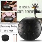12 steel tongue drum 11 notes c major scale handpan hand tankdrum bag mallets