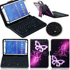 """US Universal Leather Stand Case Micro USB Keyboard For 7"""" 8"""" 9.6"""" 10"""" Tablet PC"""