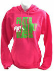 Women's Duck Dynasty Commander Faith, Family, Ducks Hoodie in Pink/Lime