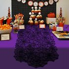 Halloween Spider Web Table Runner Black Lace Tablecloth Cover Party Table  Q