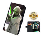Yoda Star Wars Movie Faux Leather Flip Phone Case Cover Wallet $19.99 AUD on eBay