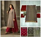 Salwar Kameez Palazo Pakistani Indian Suit PartyWear Shalwar Dress Women Suits