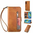Zipper Magnetic Strap Stand Wallet Card Case Cover For Huawei P30 Lite/P20 Pro