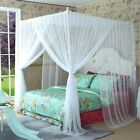 White 4 Corners Post Bed Canopy Curtain Netting Mosquito Net Or Frame Post image