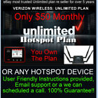 Verizon Hotspot Unlimited Plan - $50 monthly - Genuine IMIE number - Free