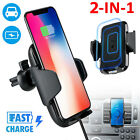Qi Magnetic Wireless Car Charger Mount Holder For iPhone X 8 Samsung S9 S8 Note9