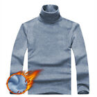 Men Thermal Slim Fit Long Sleeve Sweater Tops High Neck Autumn Outwear Pullover