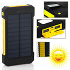 Top Worth Solar Power Bank External Standby 2 USB Battery Charger Waterproof