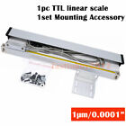 2/3Axis Digital Readout DRO Display 1μm TTL Linear Glass Scale for Mill Lathe,US