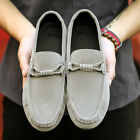 Men's Driving Moccasins Loafers Casual Boat Shoes Suede Flat Heel Slip On Shoes
