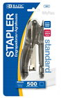 Transparent Standard Stapler with 500 Ct.(26/6) Staples Quality Set Hand Held