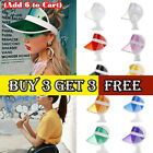 Unisex Retro Neon Sun Visor Hat Headband Cap For Golf Tennis Stag Poker Party LE